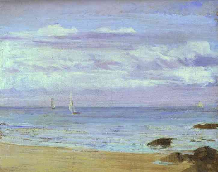 Blue And Silver Trouville 1865 | James Abbott McNeill Whistler | Oil Painting