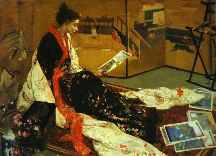 Caprice In Purple And Gold No 2 The Golden Screen 1864 | James Abbott McNeill Whistler | Oil Painting