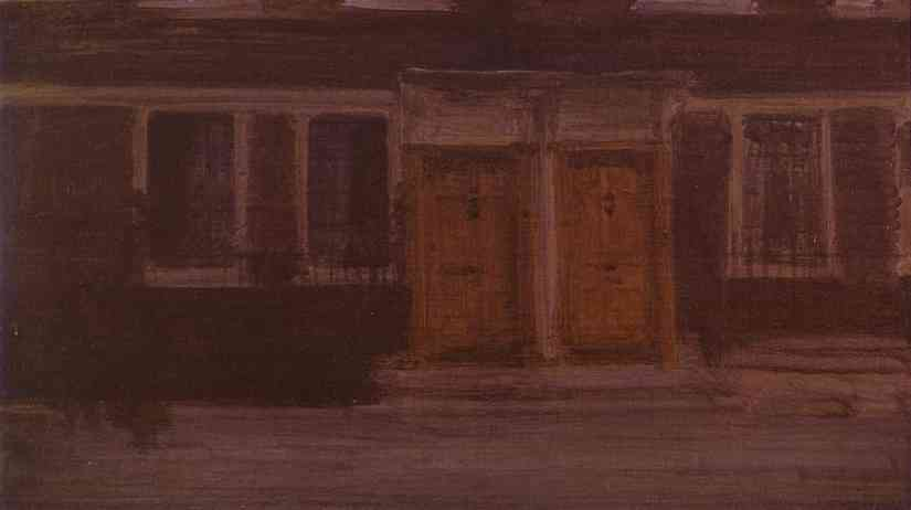Chelsea Houses 1880-87   James Abbott McNeill Whistler   Oil Painting