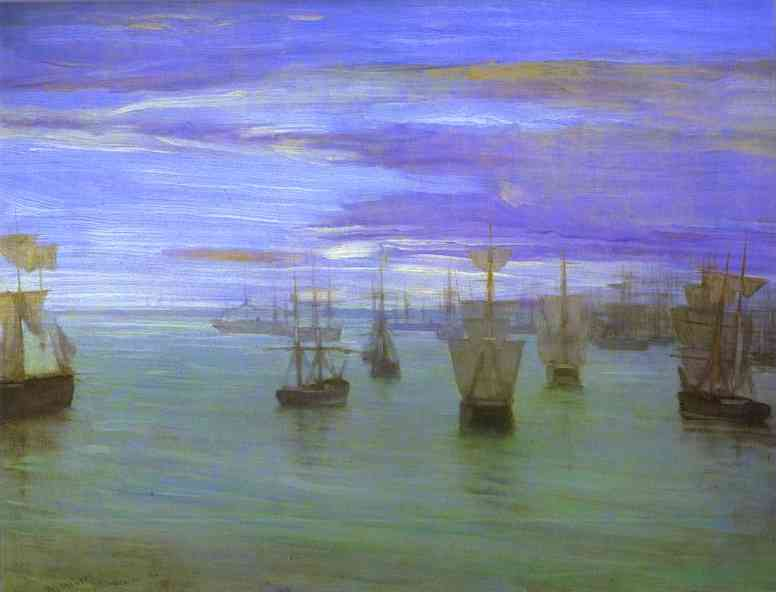 Crepuscule In Flesh Color And Green Valparaiso 1866 | James Abbott McNeill Whistler | Oil Painting