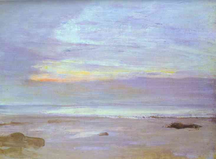 Crepuscule In Opal Trouville 1865 | James Abbott McNeill Whistler | Oil Painting