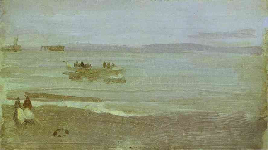 Gray And Silver Mist Lifeboat 1884 | James Abbott McNeill Whistler | Oil Painting