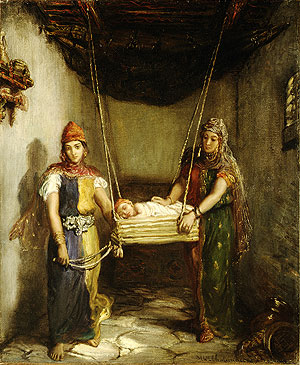 Scene in the Jewish Quarter of Constantine   Thedore Chasseiau   Oil Painting