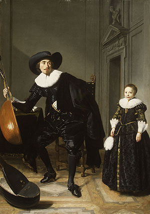 A Musician and His Daughter 1629 | Thomas de Keyser | Oil Painting
