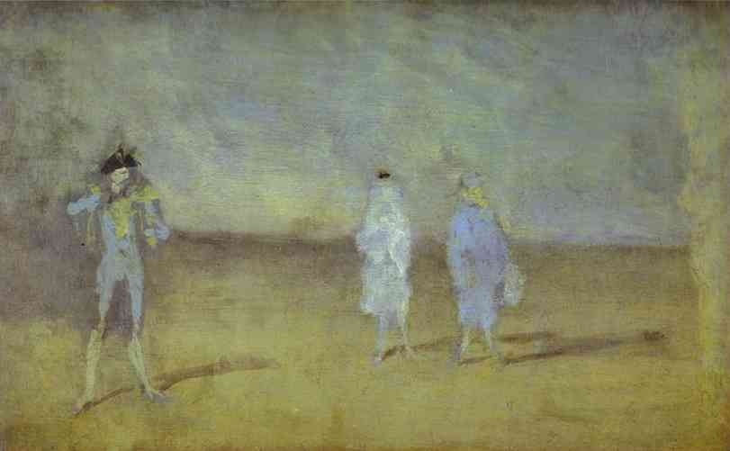 Harmony In Blue The Duet 1878 | James Abbott McNeill Whistler | Oil Painting