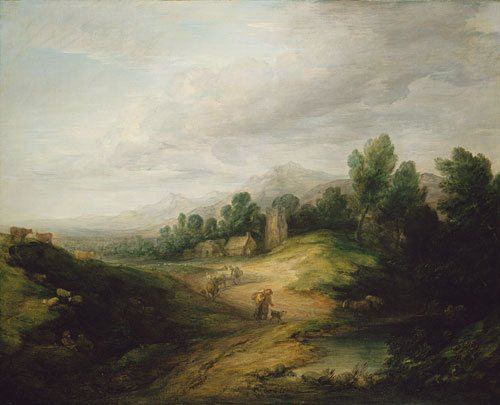 Wooded Upland Landscape probably 1783 | Thomas Gainsborough | Oil Painting