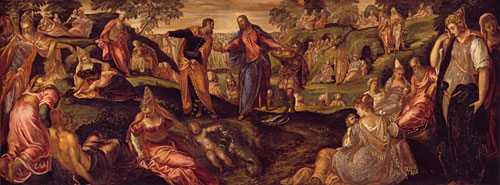 The Miracle of the Loaves and Fishes ca 1545 | Tintoretto | Oil Painting