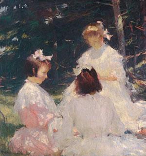 Children in Woods 1905 | Frank W Benson | Oil Painting