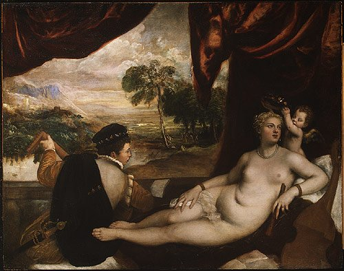 Venus and the Lute Player ca 1565 | Titian and Workshop | Oil Painting