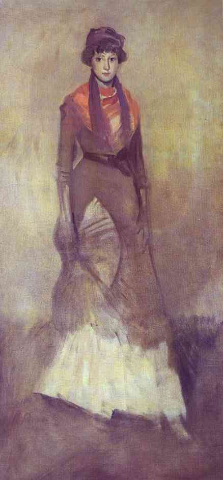 Harmony In Fawn Color And Purple Portrait Of Miss Milly Finch 1885 | James Abbott McNeill Whistler | Oil Painting
