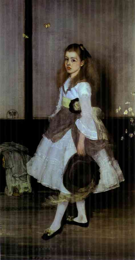 Harmony In Gray And Green Miss Cicely Alexander 1872-4 | James Abbott McNeill Whistler | Oil Painting