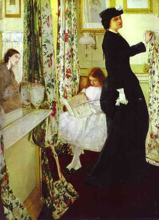 Harmony In Green And Rose The Music Room 1860-61   James Abbott McNeill Whistler   Oil Painting