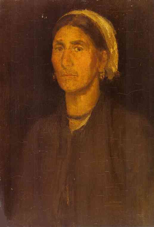 Head Of A Peasant Woman 1855-58 | James Abbott McNeill Whistler | Oil Painting