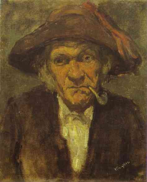 Head Of Old Man Smoking 1858 | James Abbott McNeill Whistler | Oil Painting