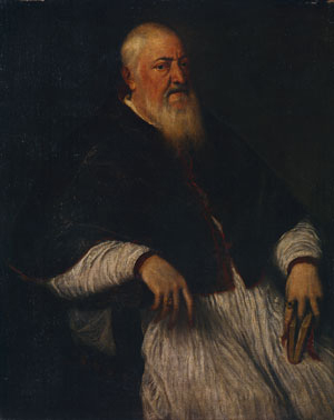 Filippo Archinto Archbishop of Milan mid 1550s | Titian | Oil Painting