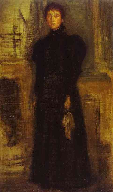 Miss Rosalind Birnie Philip Standing 1897 | James Abbott McNeill Whistler | Oil Painting
