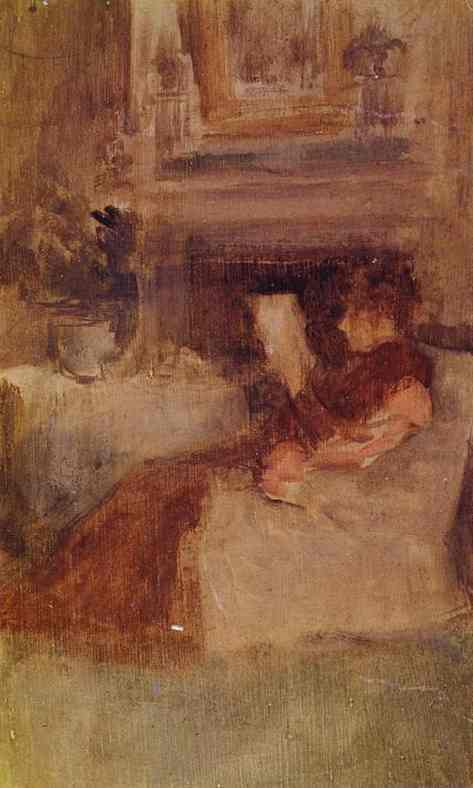Mrs Charles Wibley Reading 1894 X Hunterian Art Gallery Glasgow Uk | James Abbott McNeill Whistler | Oil Painting