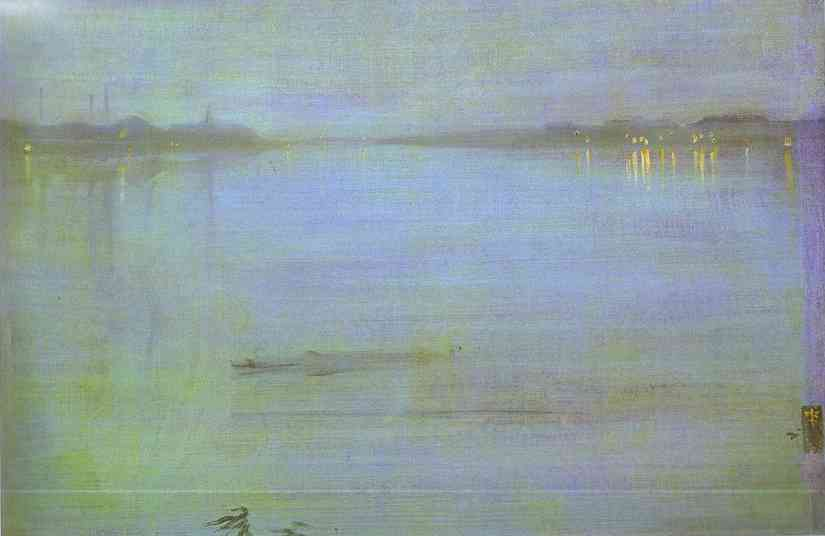 Nocturne Blue And Silver Cremorne Lights 1872 | James Abbott McNeill Whistler | Oil Painting