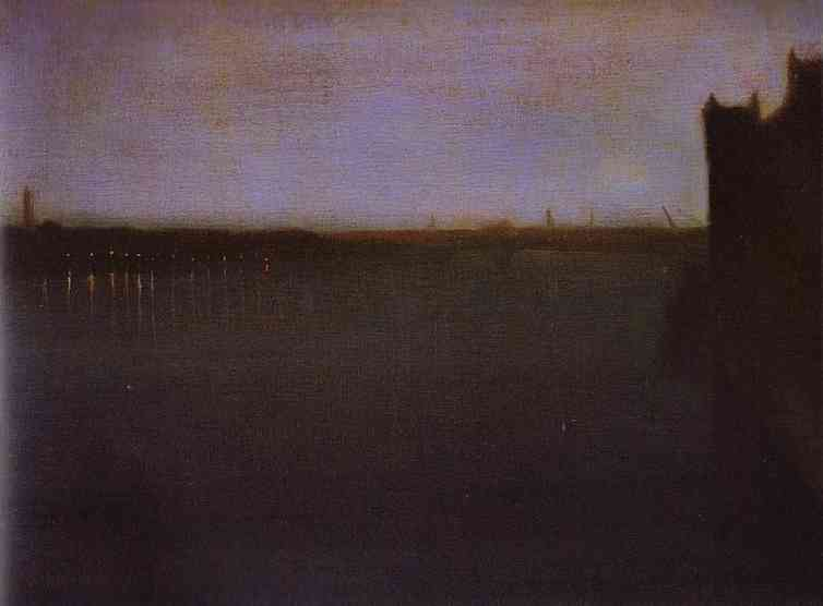 Nocturne Grey And Gold Westminster Bridge 1871-74 | James Abbott McNeill Whistler | Oil Painting