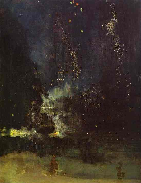 Nocturne In Black And Gold The Falling Rocket 1874-77 | James Abbott McNeill Whistler | Oil Painting