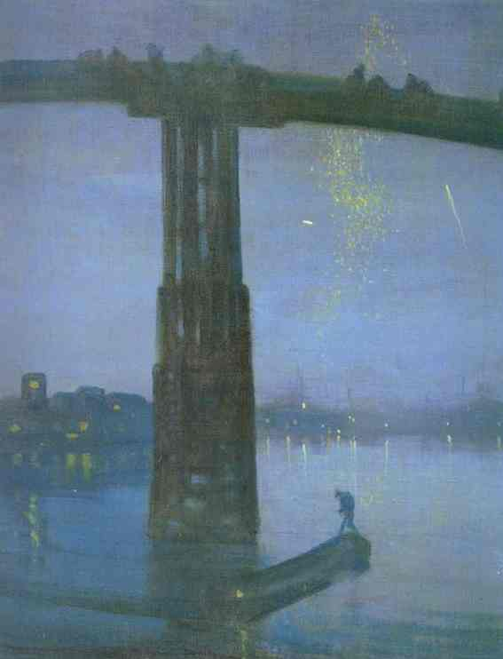 Nocturne In Blue And Gold Old Battersea Bridge 1872-75 | James Abbott McNeill Whistler | Oil Painting