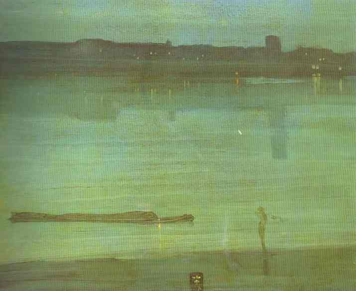 Nocturne In Blue And Green Chelsea 1870 | James Abbott McNeill Whistler | Oil Painting