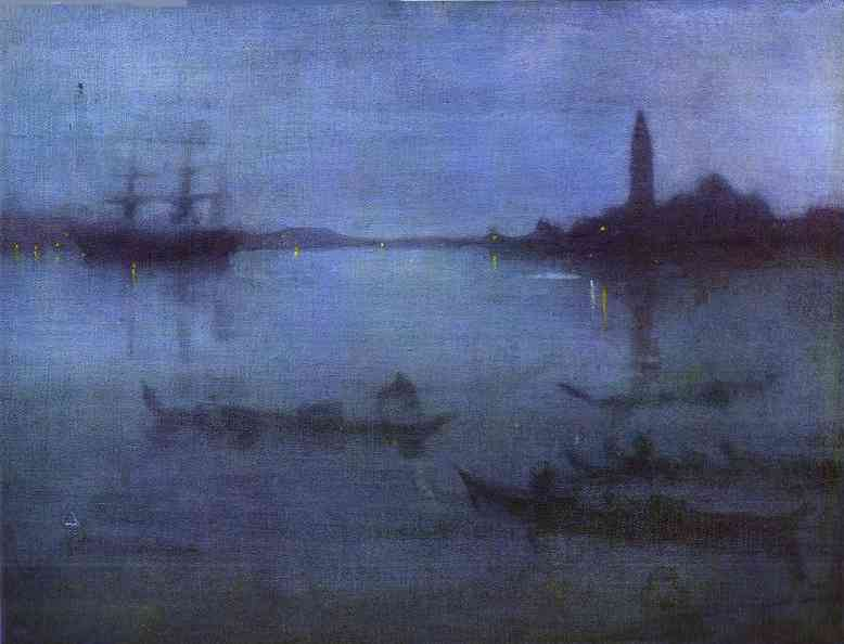 Nocturne In Blue And Silver The Lagoon Venice 1879-80 | James Abbott McNeill Whistler | Oil Painting