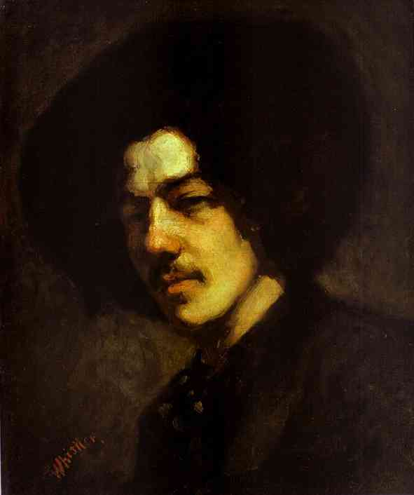 Portrait Of Whistler With Hat 1857-58 | James Abbott McNeill Whistler | Oil Painting