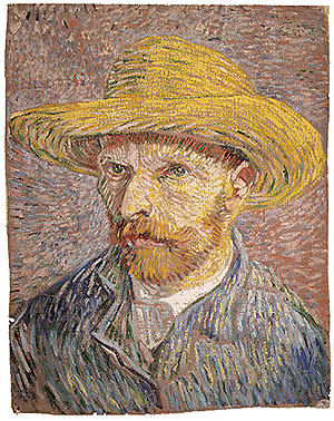 Self portrait with a Straw Hat (verso The Potato Peeler) probably 1887 | Vincent van Gogh | Oil Painting