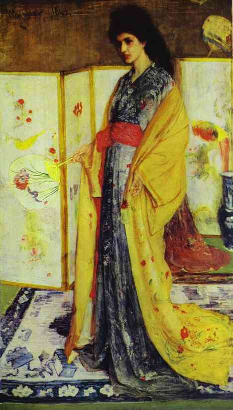 Rose And Silver The Princess From The Land Of Porcelain 1864 | James Abbott McNeill Whistler | Oil Painting