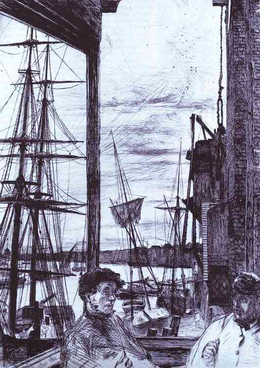 Rotherhithe 1860 | James Abbott McNeill Whistler | Oil Painting