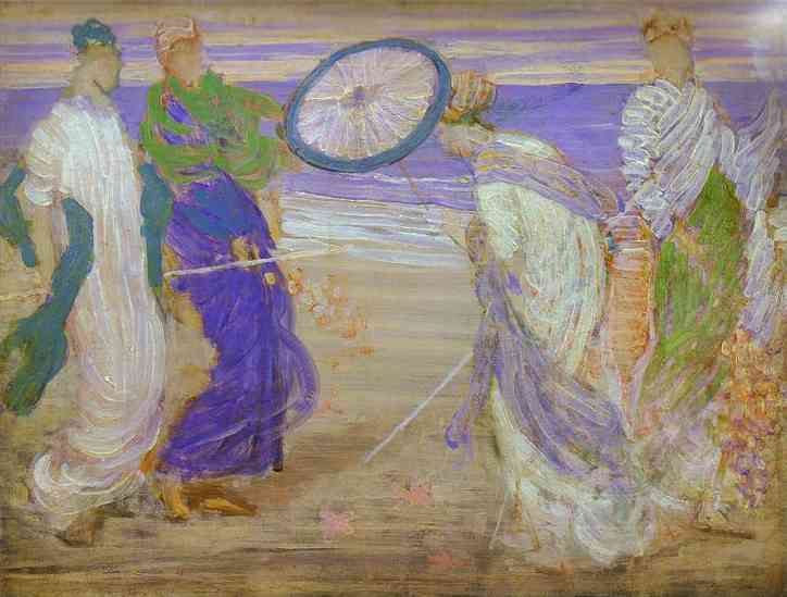 Symphony In Blue And Pink 1870 | James Abbott McNeill Whistler | Oil Painting