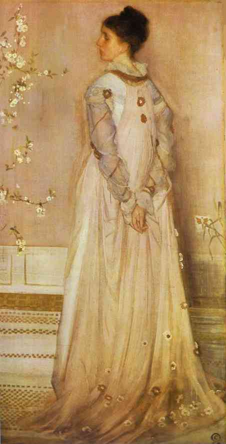 Symphony In Flesh Color And Pink Portrait Of Mrs Frances Leyland 1871-3 | James Abbott McNeill Whistler | Oil Painting