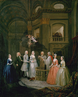 The Wedding of Stephen Beckingham and Mary Cox | William Hogarth | Oil Painting