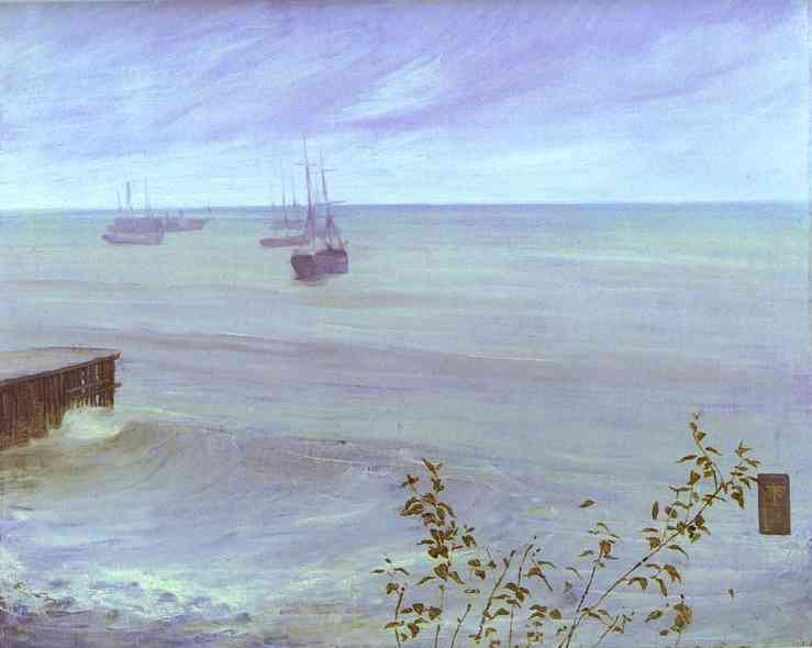 Symphony In Gray And Green The Ocean 1866   James Abbott McNeill Whistler   Oil Painting
