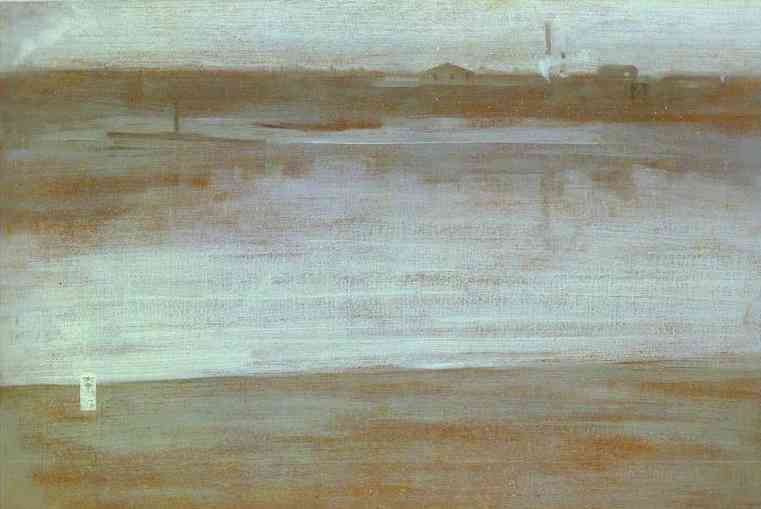 Symphony In Gray Early Morning Thames 1871 | James Abbott McNeill Whistler | Oil Painting