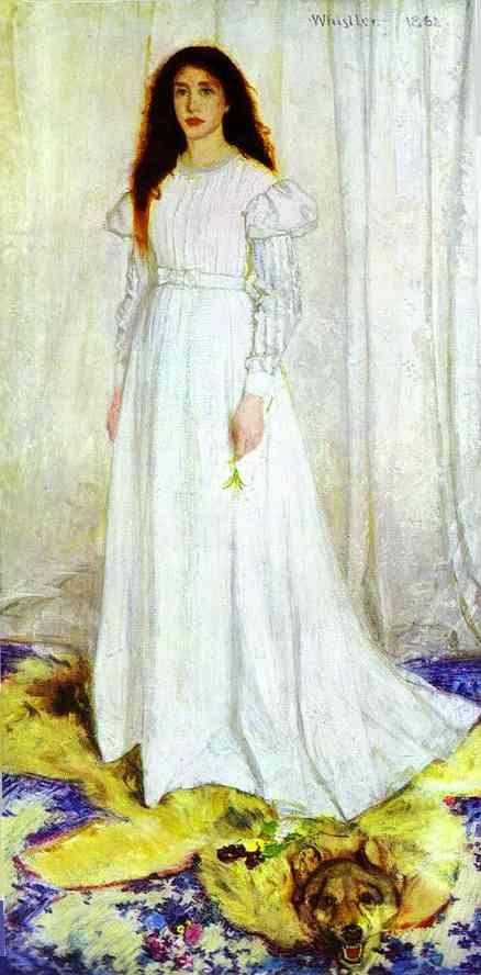 Symphony In White No 1 The White Girl 1862 | James Abbott McNeill Whistler | Oil Painting