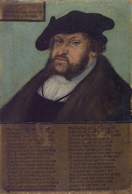 John I the Steadfast Elector of Saxony   Workshop of Lucas Cranach the Elder   Oil Painting