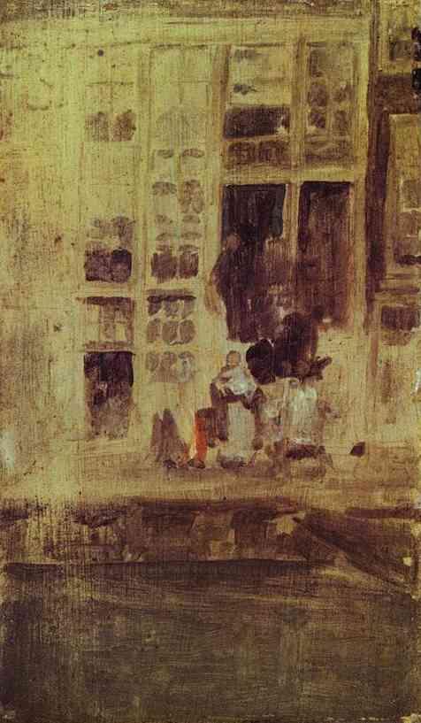 The Grey House 1889 | James Abbott McNeill Whistler | Oil Painting