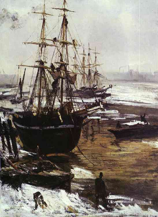 The Thames In Ice 1860 | James Abbott McNeill Whistler | Oil Painting