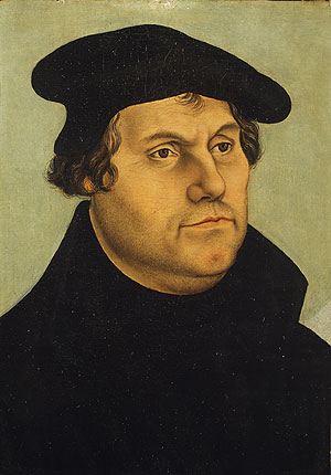 Martin Luther   Workshop of Lucas Cranach the Elder   Oil Painting