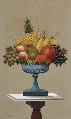 Fruit with Blue footed Bowl 1893 | Charles Sidney Raleigh | Oil Painting