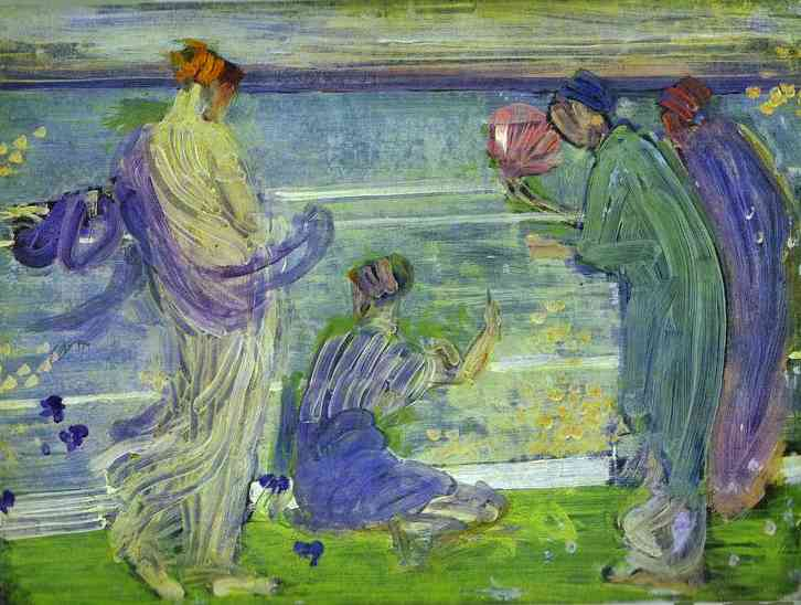 Variations In Blue And Green 1868 | James Abbott McNeill Whistler | Oil Painting