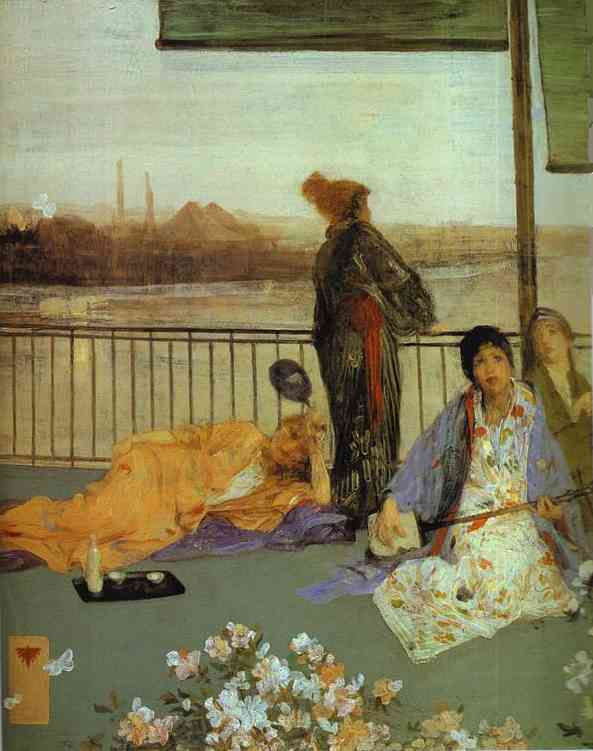 Variations In Flesh Color And Green The Balcony 1864-70 | James Abbott McNeill Whistler | Oil Painting