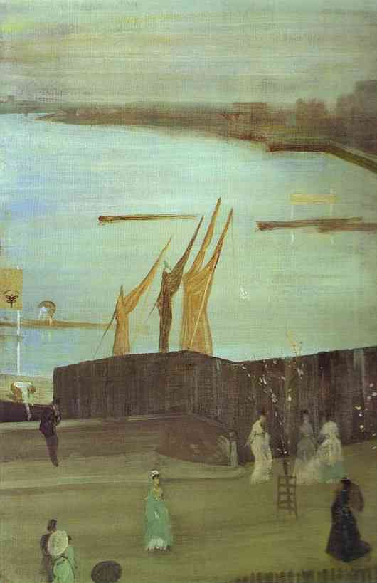 Variations In Pink And Grey Chelsea 1871 2 | James Abbott McNeill Whistler | Oil Painting
