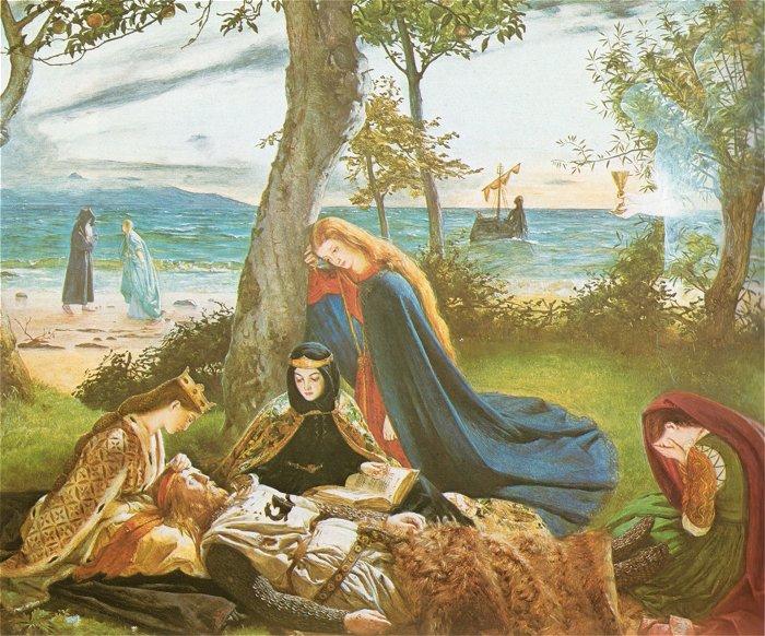 The Death Of King Arthur | James Archer | Oil Painting