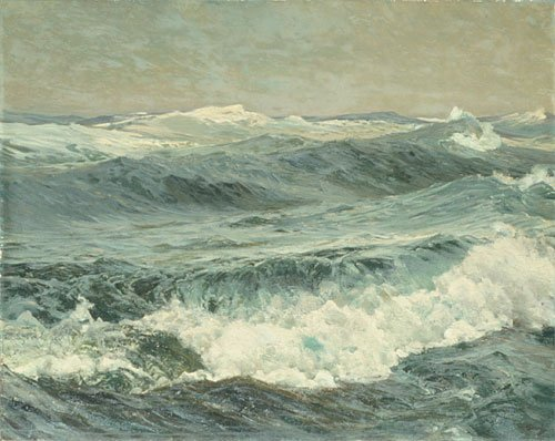 The Roaring Forties 1908 | Frederick J Waugh | Oil Painting
