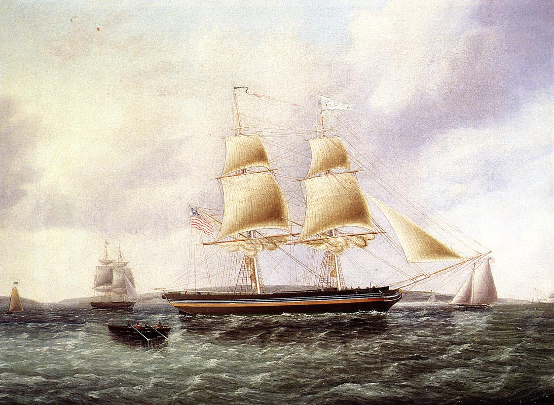 American Brig off New York | James Buttersworth | Oil Painting