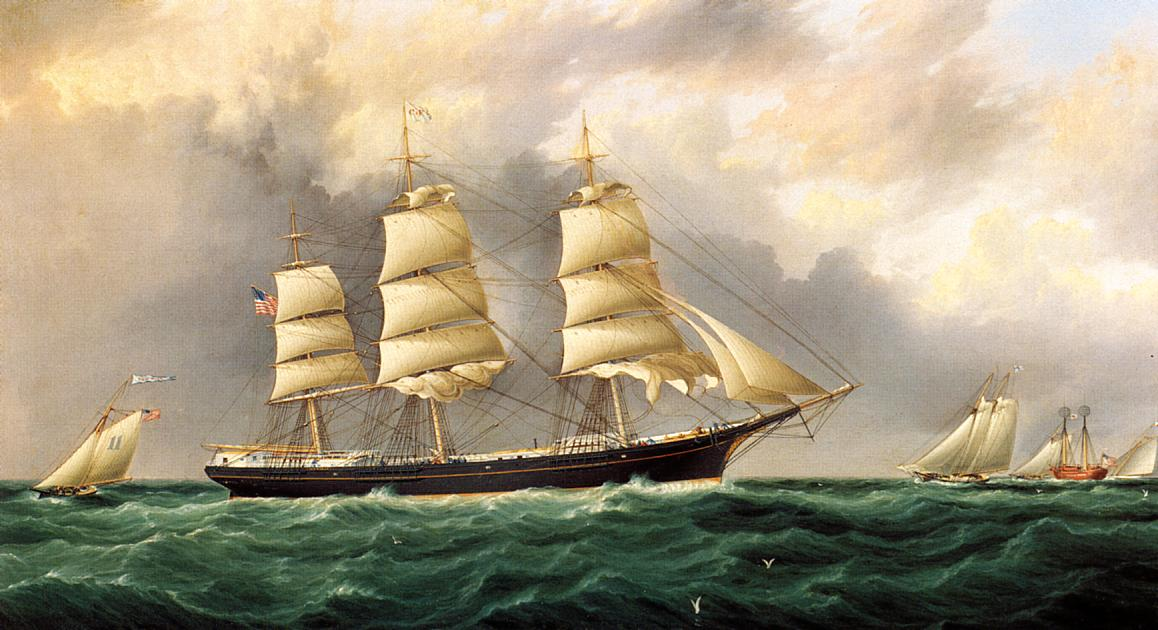 A Ship's Portrait near Sandy Hook | James Buttersworth | Oil Painting