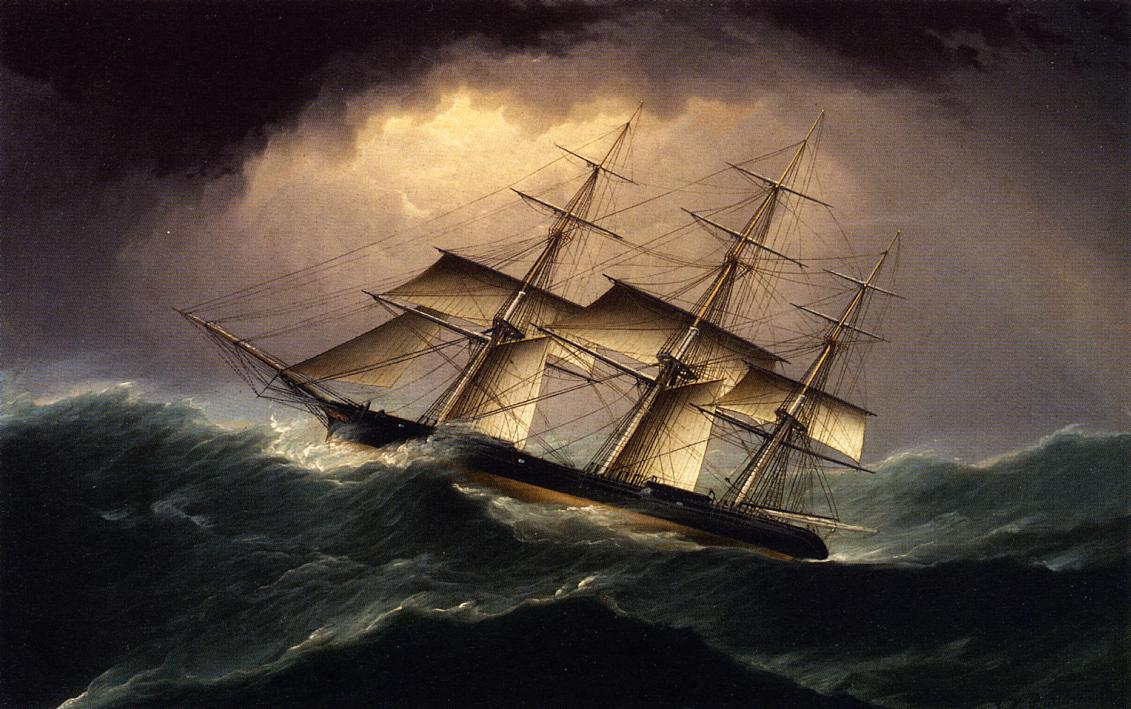 Clipper in a Heavy Sea | James Buttersworth | Oil Painting